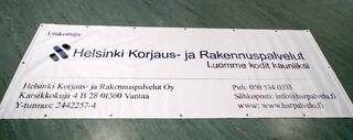 Helsinki Korjaus-ja Rakennuspalvelut OY bänner