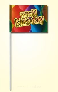 Hand flag 20x30cm, includes two color print